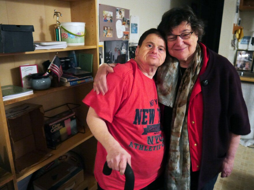 Michael Herzenberg and his birth mother, Lee.