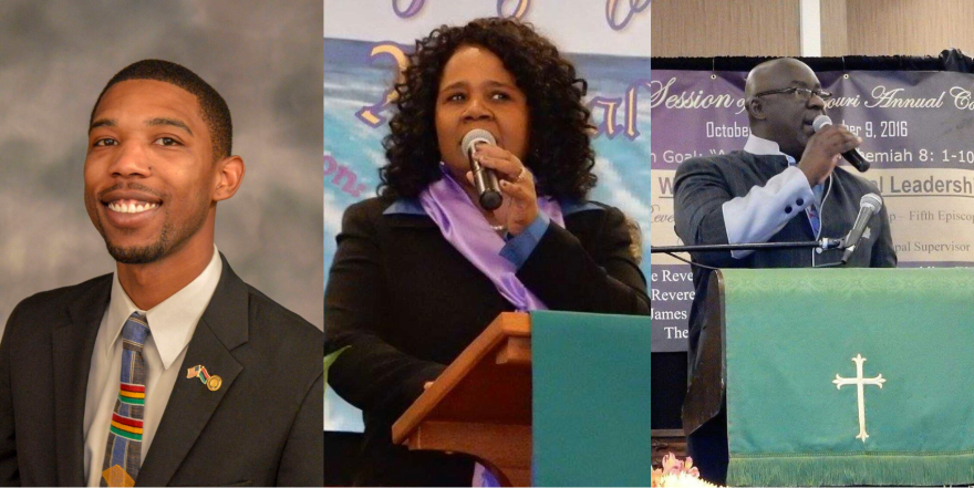 Kevin Windham Jr., Rev. Christine Pennington-Stancil, Pastor Clinton Stancil
