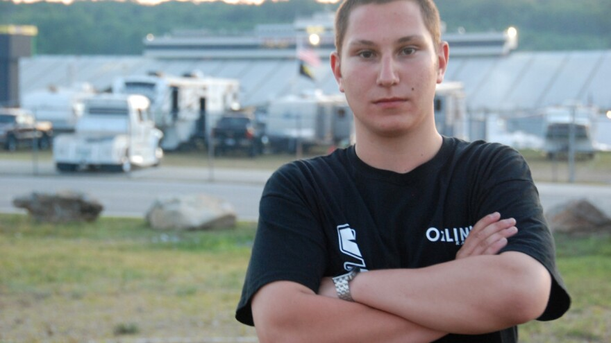 Kaz Grala after his 10th place finish at the Granite State 100.