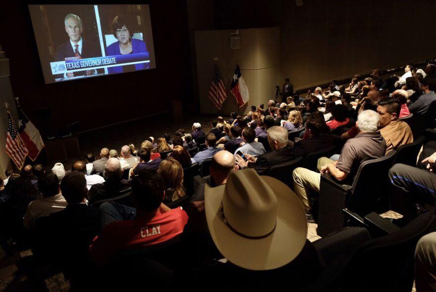 Debate between Gov. Greg Abbott and Democratic challenger Lupe Valdez, in Austin
