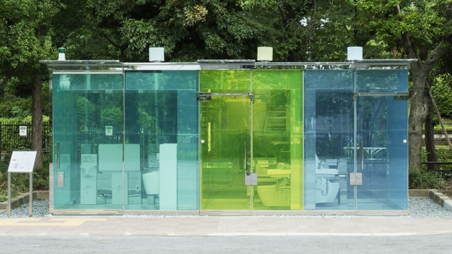 The restrooms recently opened at two parks in Tokyo. More architect-designed public bathrooms will be created in the coming months.