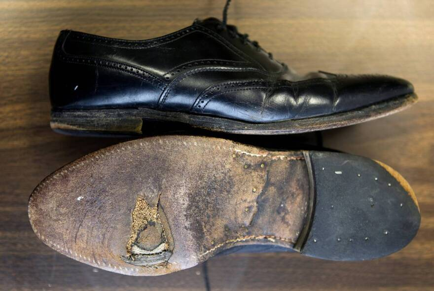 The shoes Dennis Bonnen wore during his first bid for a House seat in 1996.