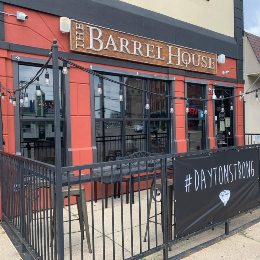 The Barrel House in Dayton will stick with curbside pickup even though bars and restaurants are allowed to open for outdoor dining on Friday.