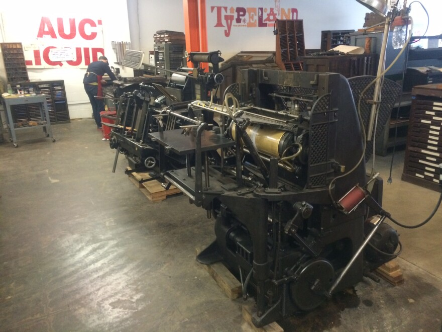 Printing press from 1927 at Firecracker Press's Old North location