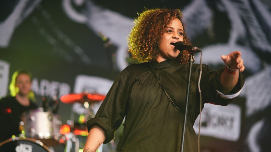 Seinabo Sey performs at The Fader Fort during this year's SXSW music festival in Austin, Texas.