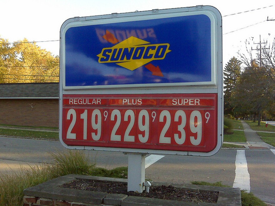 Towards the end of the year in 2008, gas prices dipped to a similar low.  oil gas pump price