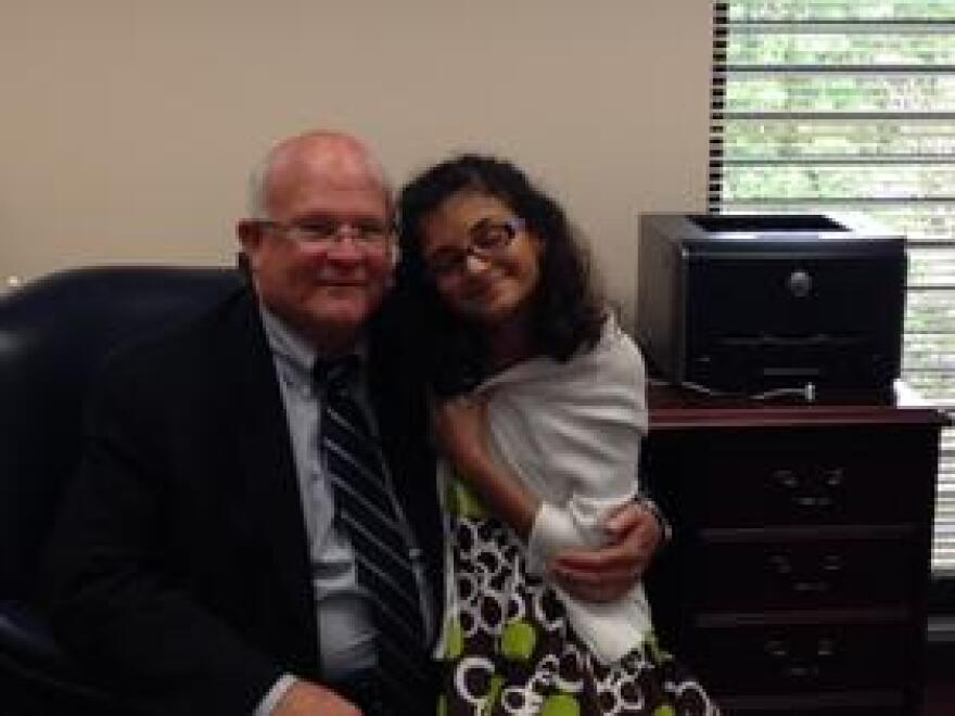 Paloma Rambana met with State Representative Dennis Baxley on her lobbying trail to gain funding for Florida's uncovered blind children.