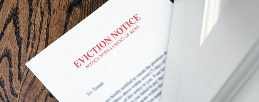 An eviction notice