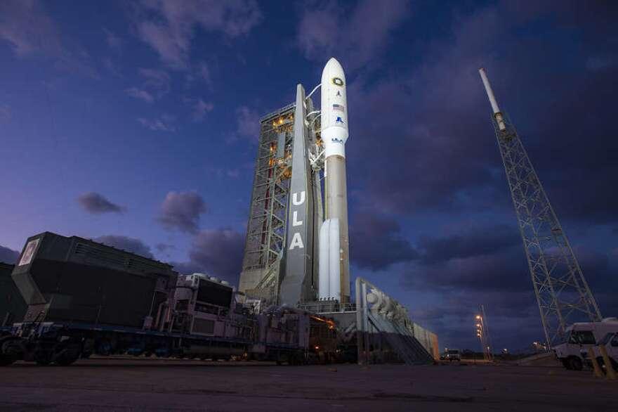 ULA's Atlas V rocket on the launch pad