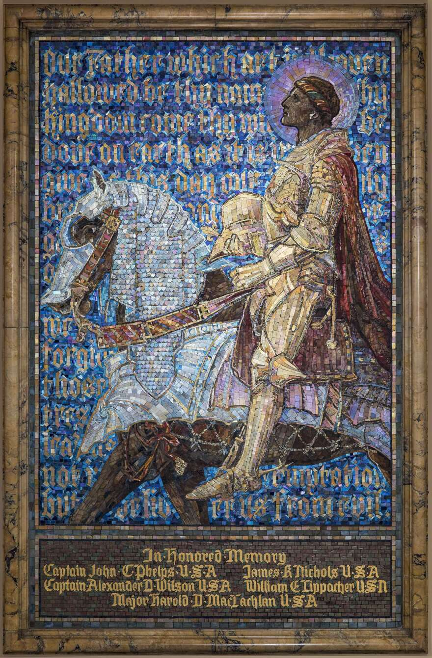 <em>The Prayer of the Christian Soldier </em>is a 1919 mosaic designed by Frederick Wilson and commissioned by the First Presbyterian Church (now United Presbyterian Church) in Binghamton, N.Y.