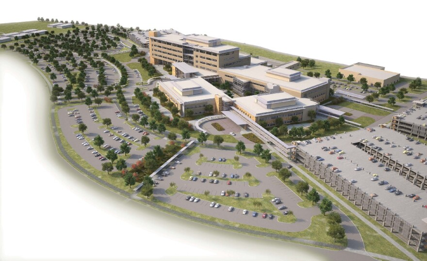 Artist's rendering of new Fort Hood Medical Center