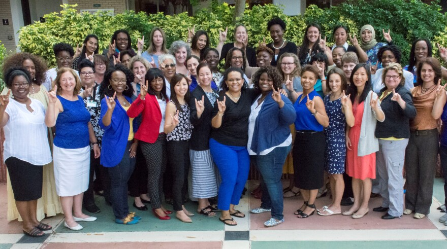 Women attending a doctoral boot camp at USF Tampa.
