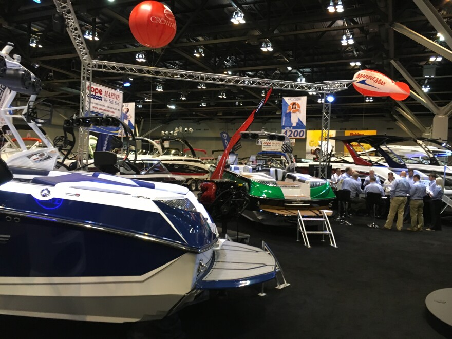 The boat show runs through Sunday.