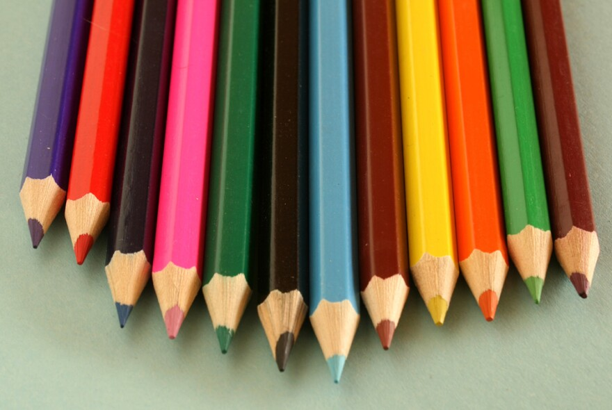 colored penciles, education, art