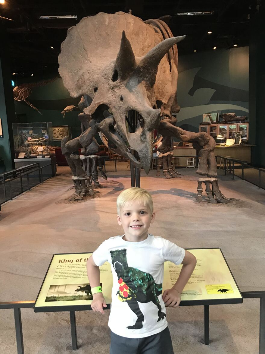 Leo wants to be a paleontologist when he grows up.