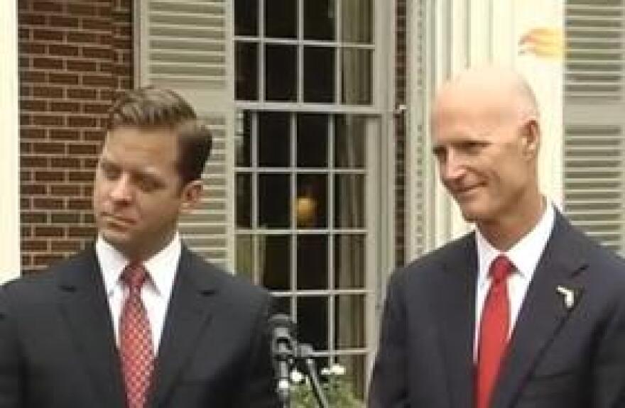 Governor Rick Scott introduces his new lieutenant governor.