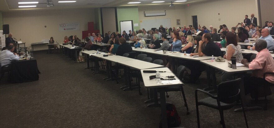 More than 100 people attended a panel discussion forum regarding the creation of a local Children's Services Council on June 13, 2018 at the Red Cross.