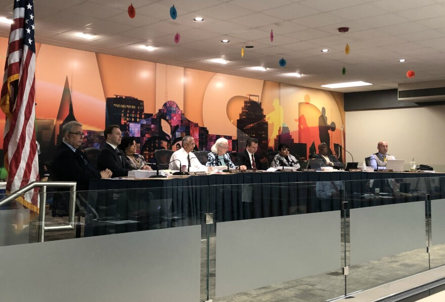 San Antonio ISD trustees and superintendent meet to discuss the future of 18 schools Mar. 25, 2019.