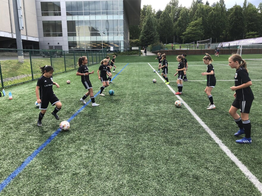 This is the first year these girls will be allowed to head the ball in competition. A 2015 order by the U.S. Soccer Federation banned heading for kids 10 and younger.