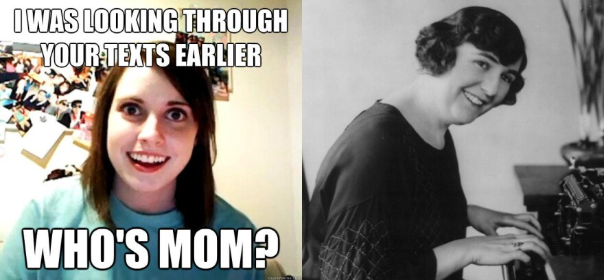 Meme of Overly Attached Girlfriend from KnowYourMeme and The Stenographer from the Library of Congress.