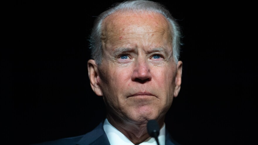 """When his wife and young daughter were killed in a car accident in 1972, Biden struggled to acknowledge his grief publicly. """"He didn't want to become a symbol of human vulnerability. But it was thrust upon him and he had to decide whether to embrace it,"""" Evan Osnos says."""