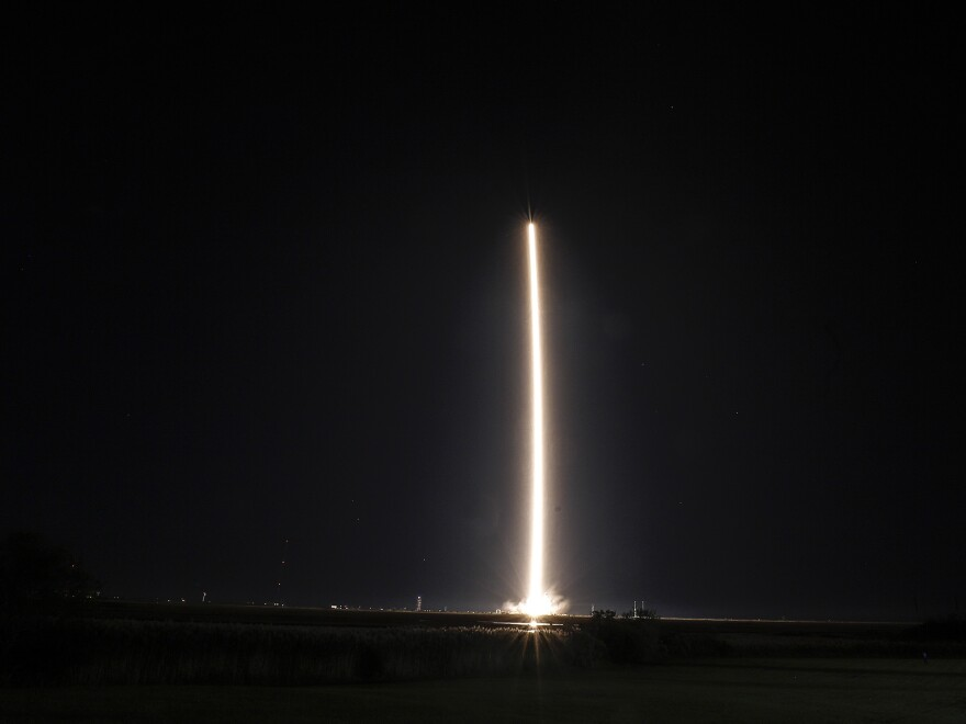 Northrup Grumman's Antares rocket lifts off from the NASA Wallops test flight facility in Virginia on Oct. 2. The rocket was scheduled to deliver supplies to the International Space Station.