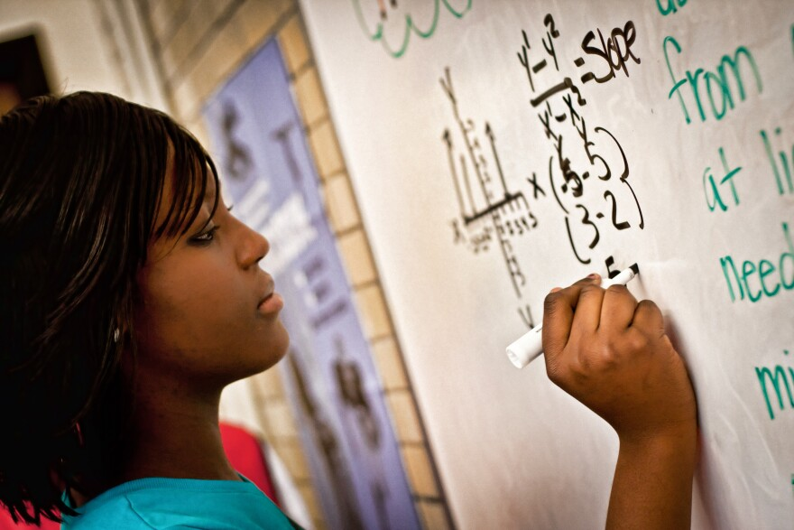 Washington University's Institute for School Partnership's Math314 program is training teachers to take a more conversational approach to math instruction.