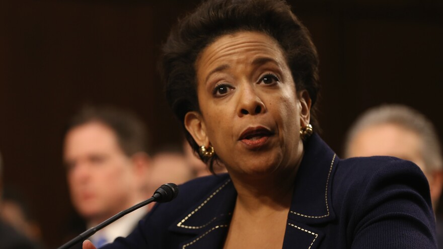 Loretta Lynch testifies during her confirmation hearing before the Senate Judiciary Committee in January 2015.