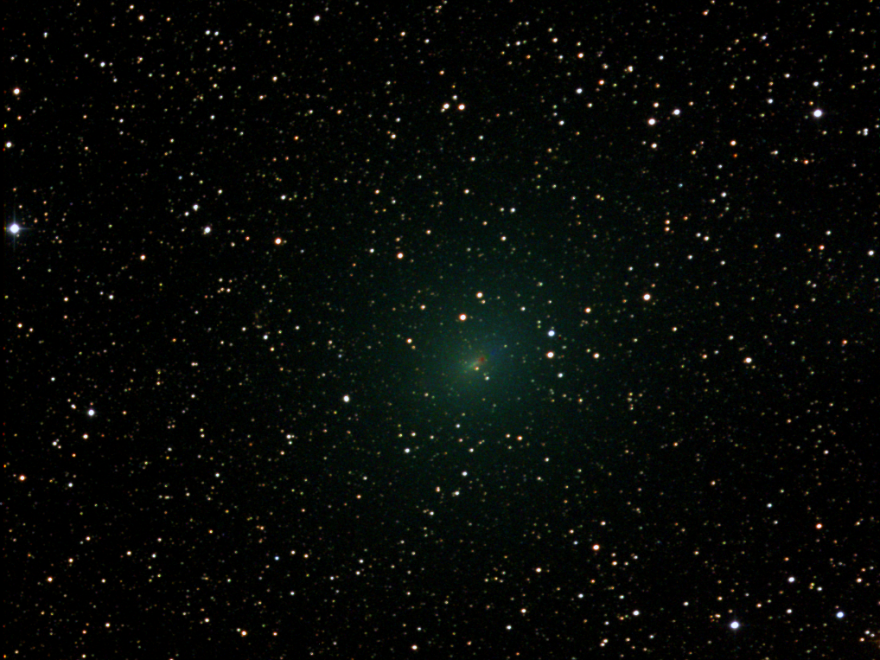 "The 45P/Honda-Mrkos-Pajdusáková, as seen on Wednesday with <a href=""http://live.slooh.com/"">Slooh Community Observatory</a> telescopes. This image was captured two days before it reached its closest approach to Earth on Friday."