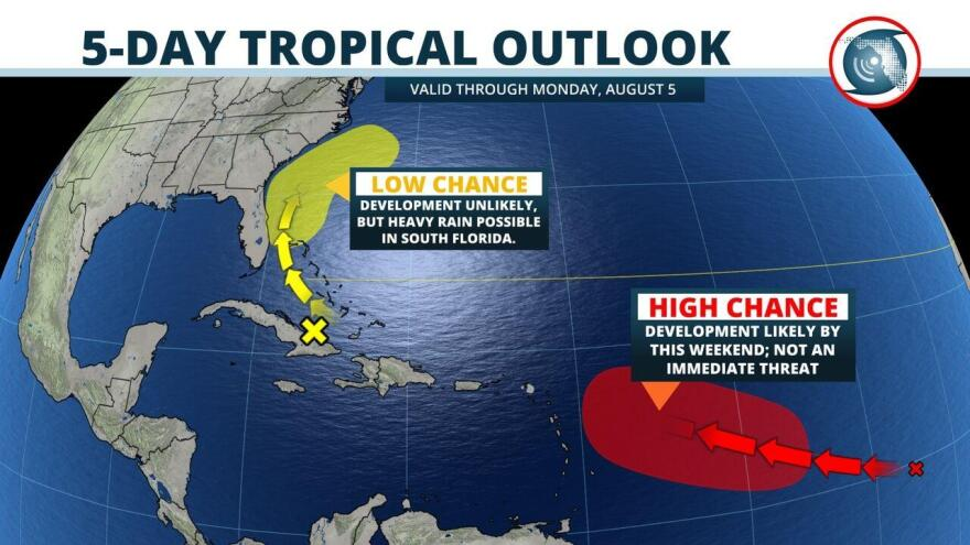 5-day tropical outlook