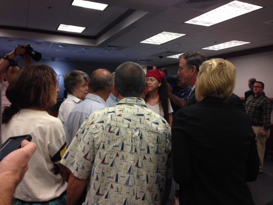 DEP Secretary Herschel Vinyard with Collier County residents.