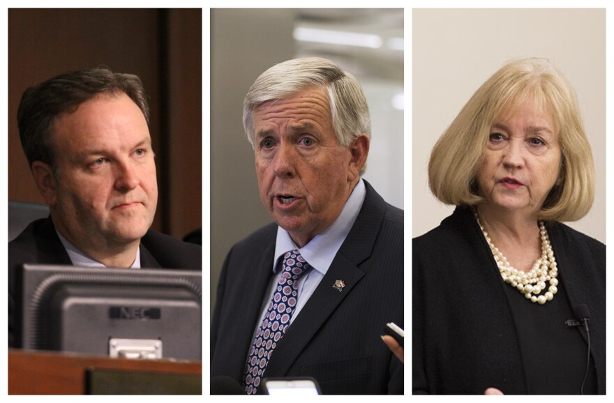 St. Louis County Executive Sam Page, Gov. Mike Parson and St. Louis Mayor Lyda Krewson will appoint the Board of Freeholders.