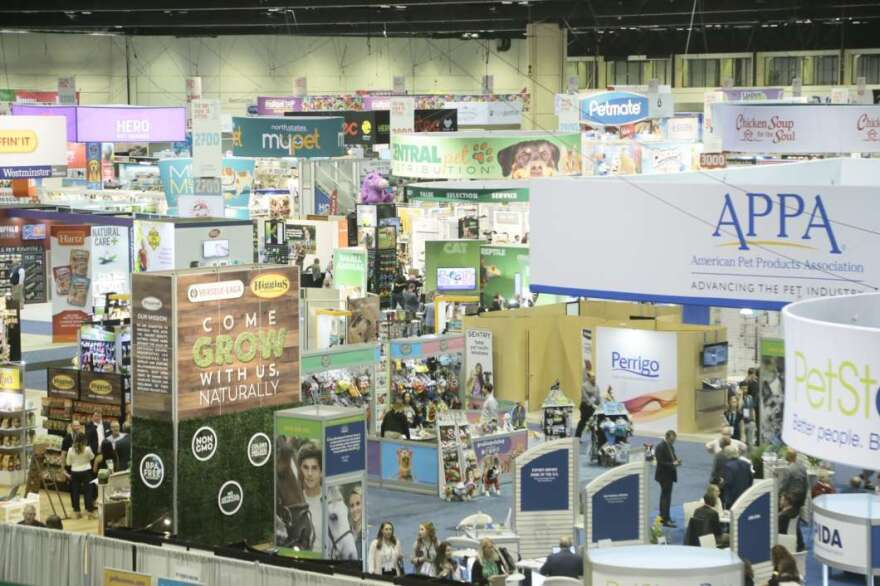 The Global Pet Expo booths