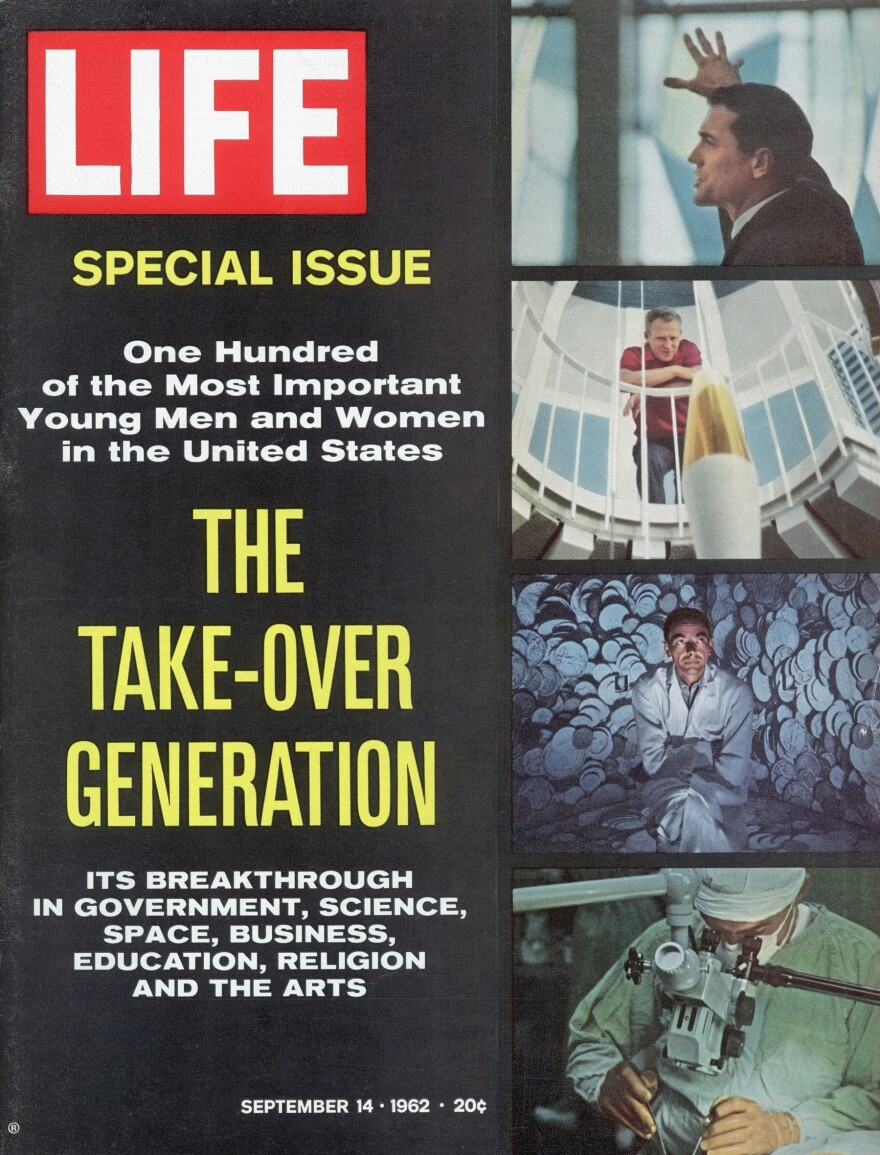 """<em>Life</em> magazine cover from the <a href=""""http://bit.ly/U4zliA"""">Sept. 14, 1962, issue</a> profiling promising young Americans of the time."""