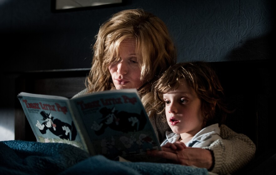 In an independent, Australian film, a single mother (Essie Davis) and her troubled young son (Noah Wiseman) are terrorized by a mysterious character from a children's book called <em>Mister Babadook</em>.