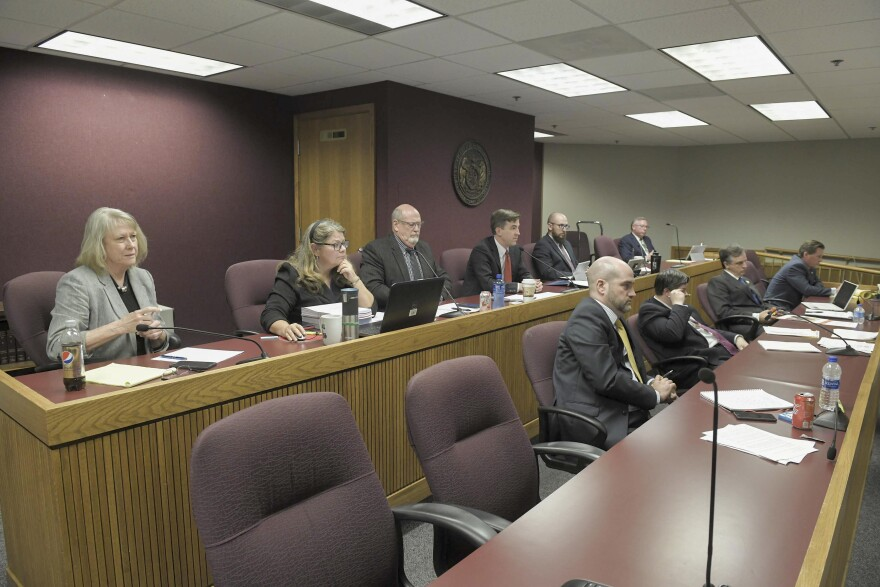 Members of a committee looking into Gov. Eric Greitens' conduct listen in on Thursday, May 24 to testimony.