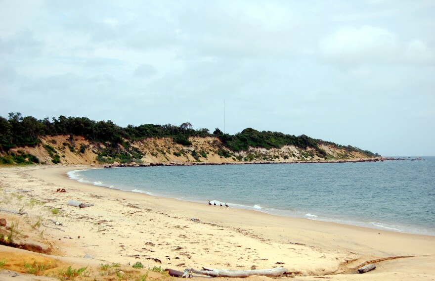 """Plum Island has roughly four miles of beaches"""" — including along this bay below the decommissioned gunnery stations of Fort Terry."""