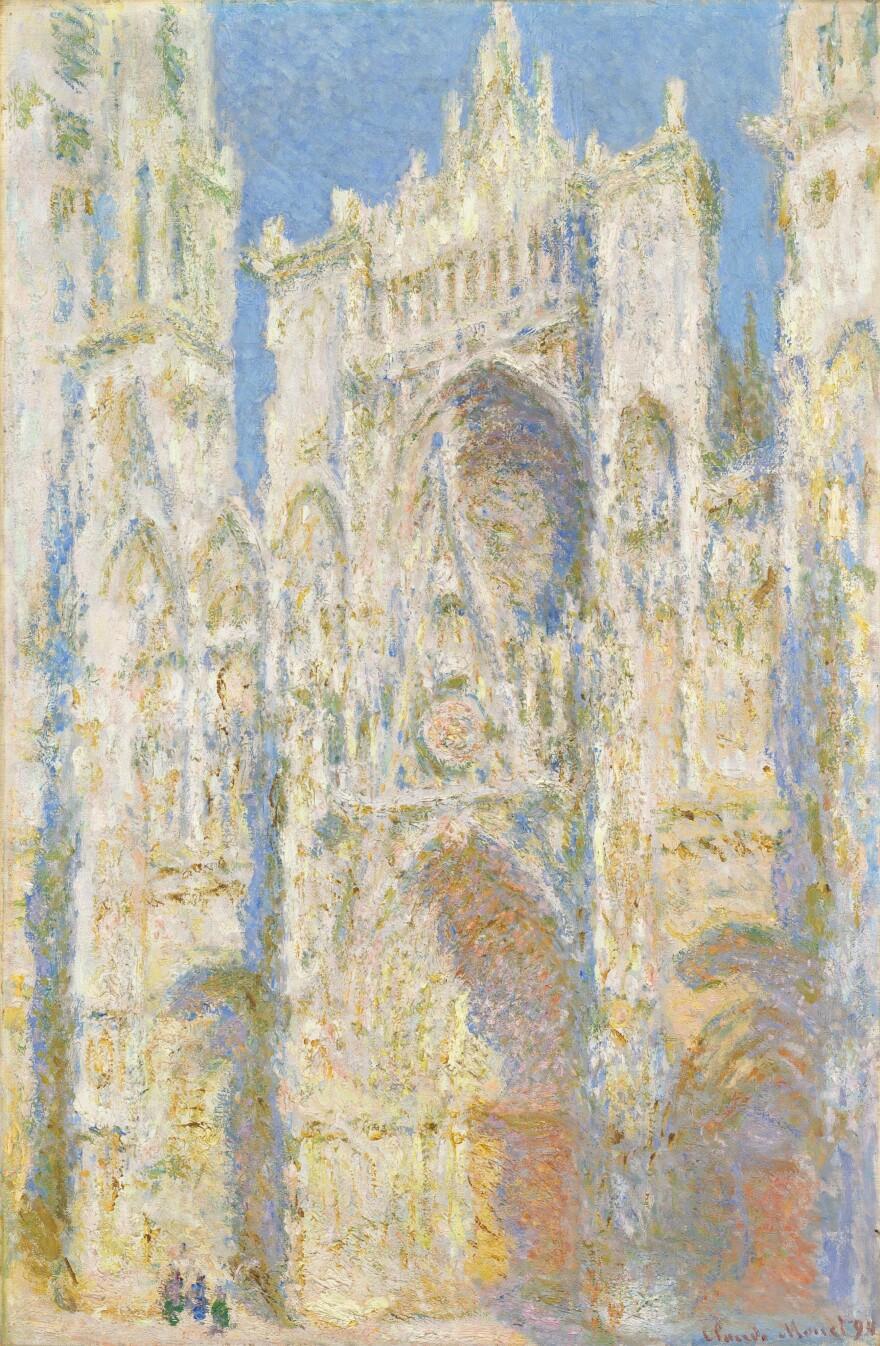 Claude Monet's <em>Rouen Cathedral, West Façade, Sunlight,</em> 1894<em> </em>