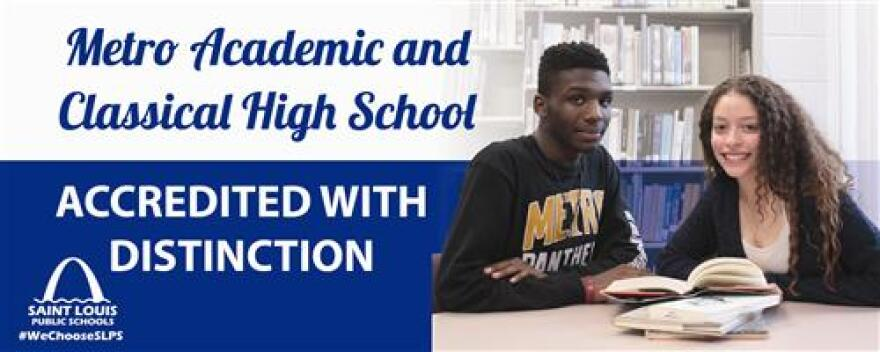 St. Louis Public Schools highlighted Metro in one of its ads.