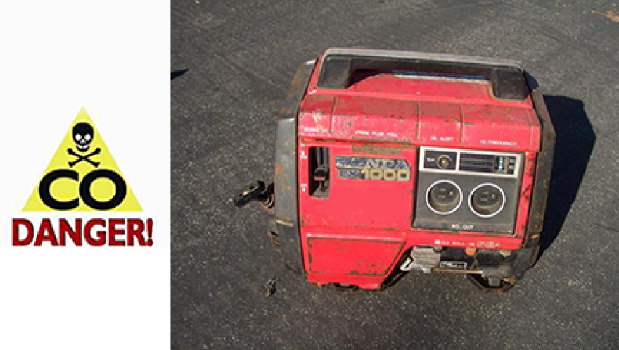 """""""Carbon monoxide (CO) is an odorless, colorless, poisonous gas that can cause sudden illness and death if present in sufficient concentration in the ambient air,"""" says the FDOH website. Here's a portable generator which emits CO."""