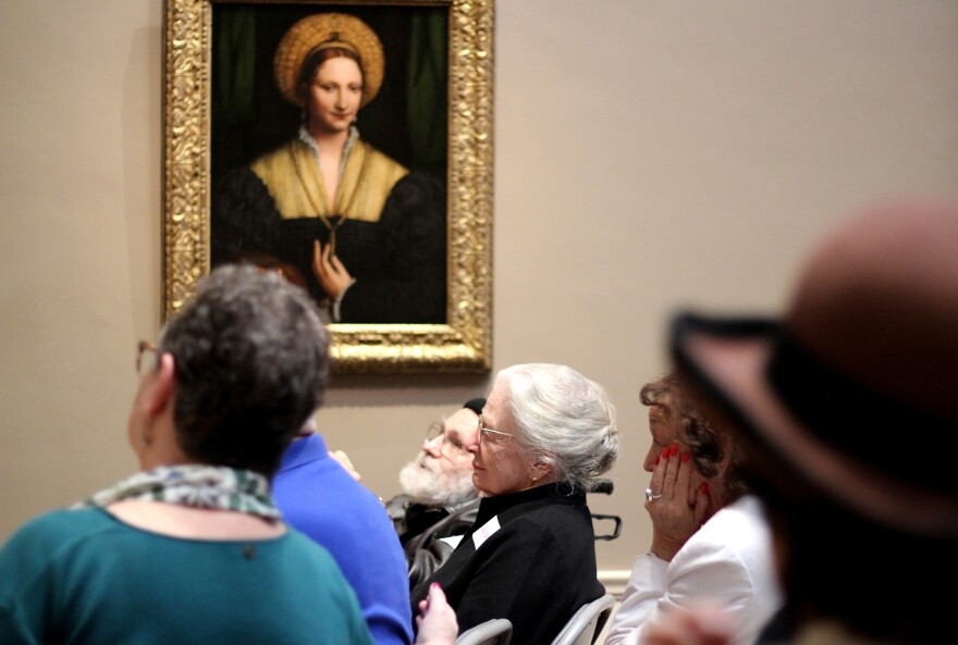 Research on other museum-based programs like the National Gallery's <em>Just Us </em>has found that analyzing and discussing art in small groups reduces apathy among people with Alzheimer's, and reduces stress and isolation among their caregivers.