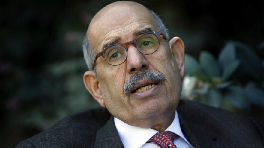 An Egyptian lawsuit against former interim vice president of Mohammed ElBaradei, seen here in 2010, has been dismissed. ElBaradei is not currently living in Egypt.