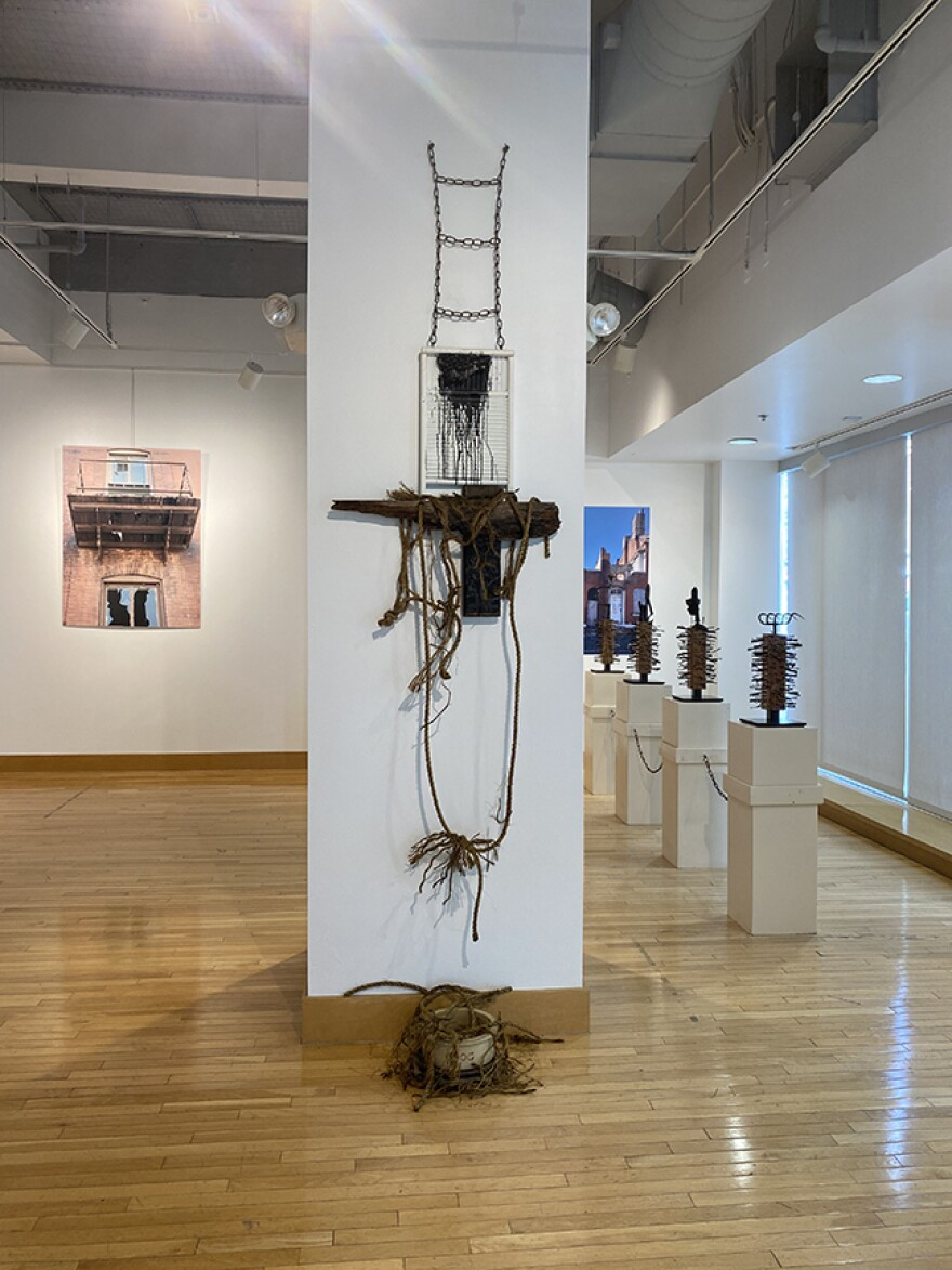 Ronald Young's work is inspired by African traditions which place importance on the memory of the past. [7/21/21]
