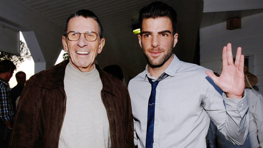Leonard Nimoy (left) originated the role of Spock on <em>Star Trek. </em>Zachary Quinto (right) plays the character in the franchise's reboot.