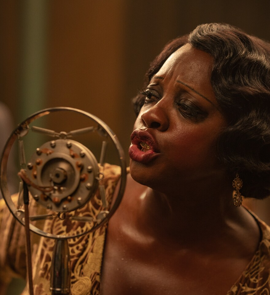 Viola Davis as Ma Rainey in the film adaptation of <em>Ma Rainey's Black Bottom</em>
