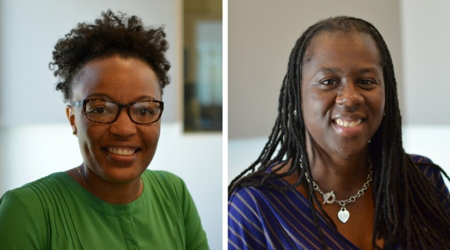 Dr. Sheandra Brown and Kristy Jackson are two local educators who recently spoke at The Crooked Room Conference at UMSL, which focused on improving outcomes for African American girls and women in education.