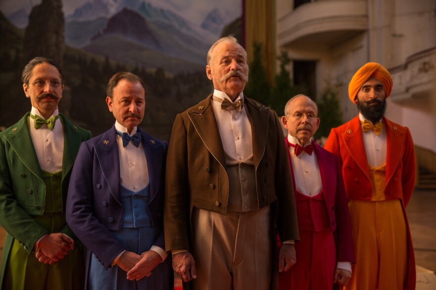 """Nearly every male character in <em>The Grand Budapest Hotel</em> has some kind of beard or mustache. Some were real, but hair and makeup designer Frances Hannon says """"about 60 or 70 percent"""" were artificial."""