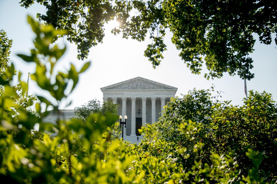 In this July 8, 2020, file photo the Supreme Court is shown in Washington.