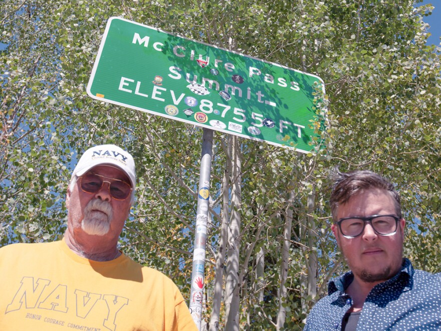 Chas McClure and T. Chick McClure at McClure Pass summit in Colorado.