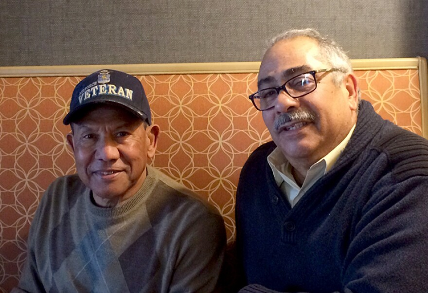 Jaime Torres, left, and Tony Maldonado have both been active in numerous Hispanic civic and culture groups in St. Louis for decades.